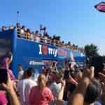 Simona Halep sărbatorită la Constanța după victoria de la Wimbledon (fotoreportaj)
